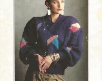 Vintage Filatura Di Crosa Italian Knitting Pattern, Mod 0809 Instant Download PDF