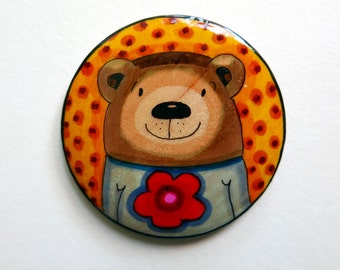 """Shop """"bear necklace"""" in Brooches"""