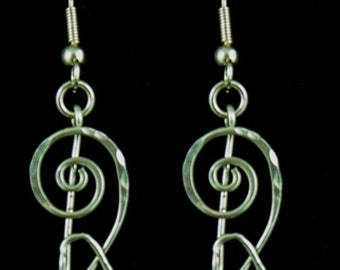 Courage Sterling Silver Earrings