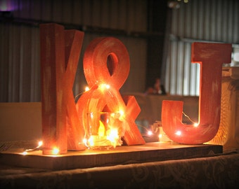 Rustic wedding initial and ampersand