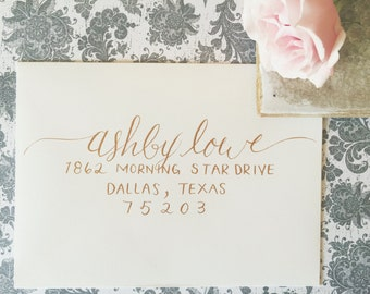 ASHBY Layout / Wedding Calligraphy Envelope Addressing / Hand Written / Tier 2 Layout