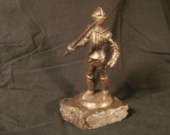 Bronze Knight Statuette