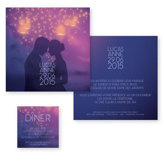 Articles similaires faire part de mariage lanternes volantes romantique - Fabriquer des lanternes volantes ...