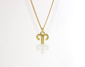 ARIES CHOKER (March 21-April 19) zodiac sign necklace, available in gold-plated, silver-plated and leather