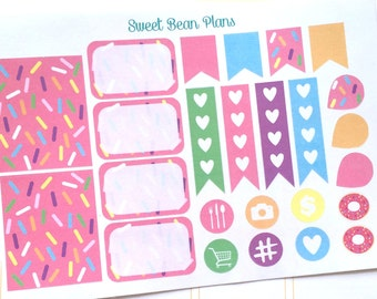 25 Pink Sprinkles Decorative and Purposeful Planner Stickers