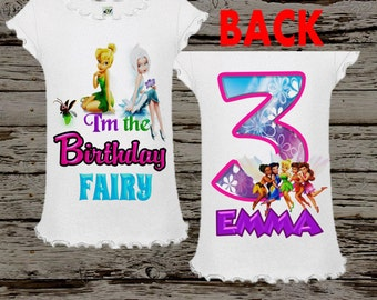 Tinkerbell Shirt - Tinkerbell Birthday Shirt - front and back