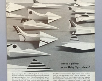 1967 Flying Tiger Line Print Ad - Historical Air Frieght Company