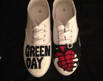 Green Day American Idiot Shoes