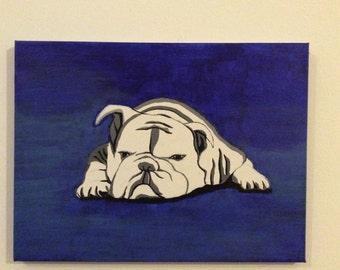 British bulldog pop art original