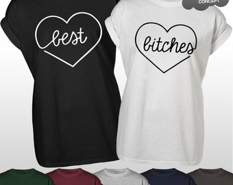 Best Bitches T-Shirt BFF Flawless Tee Please I Ride A Unicorn Beyonce Friend Friends Tops