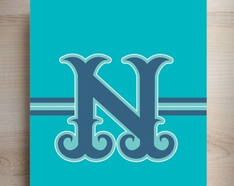 Letter N - Typographic print poster for your home or office