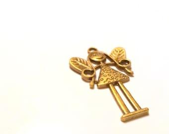 Angel Charm, Pendant Charm, Angel pendant, Bronze tone charm, Bronze tone pendant