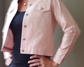 Vintage Pink Silk Anage Too Jacket Size Small