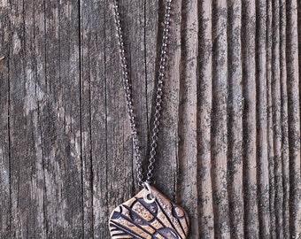 Bronze Metal Clay Pendant - Spade Modern - NB181