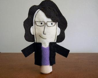 Liz Lemon Felt Finger Puppet - Free shipping!