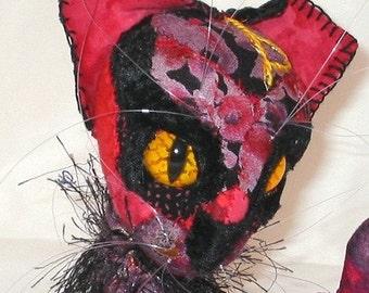 Custom Magic Rune Cat Rune embellished Soft Sculpture Cat
