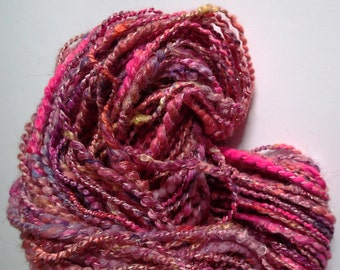 Handspun Merino Multi-Fiber Blend Yarn, 100 yds. (Free US Ship)