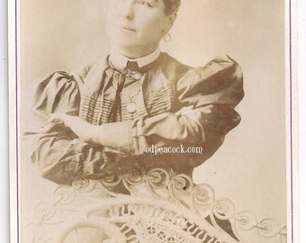 Wendt mind reader Miss Leland spiritualism oddity fortune teller magic cabinet card