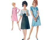 des années 60 couleur bloc robe robe taille Empire motif vintage 34-26-36 a-ligne patron robe simplicité 6292