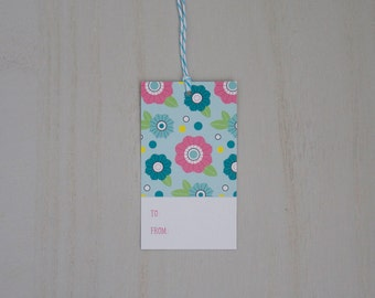 Pop Flower Gift Tags
