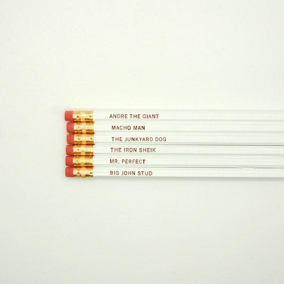 Pencils // Mostly Dead Wrestlers Pencil Set