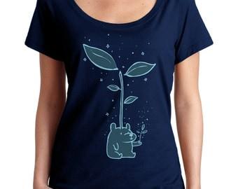 Little Spirit Bear Scoop Neck Tshirt - Cute Bear Shirt