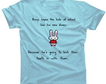 Bunny's New Shoes Tshirt - Mens and Womens Sizes
