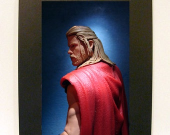 "Framed Avengers Thor Action Figure Toy Photograph 4"" x 6"" Movie"