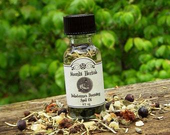 Belladonna's Banishing Spell Oil - Cleansing, Ward Against Negative Influences and Energies,  Banish Negative Spirits, Hex Breaking
