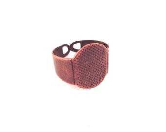 20 15mm copper adjustable rings blanks