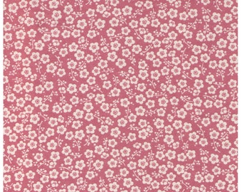 HALF YARD Cherry Blossoms on PINK - Traditional Japanese Sakura design Cherry Tree Delicate Flowers - Cosmo Textile Japanese Fabric