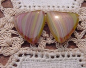 Stunning Slag Glass Triangles Vintage Glass Beads