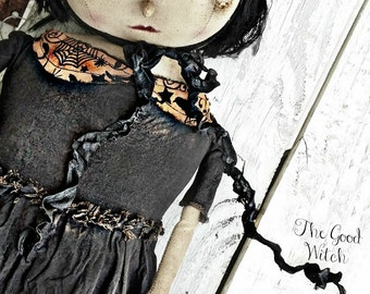 Primitive Good Witch Doll Pattern INSTANT Download Digital Halloween PDF Patterns Fabric Cloth Sewing Kim Kohler