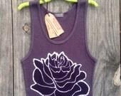 Black Lotus flower, bohemian tops & tees, meditation Yoga top, sleeveless top, batik clothing, ribbed top hand dyed black top women clothing