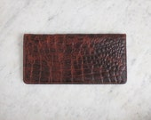 leather clutch / clutch wallet / alligator clutch