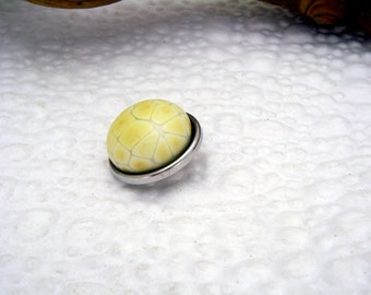 Reptile snake belly skin art glass snap charm chunk popper interchangeable handmade
