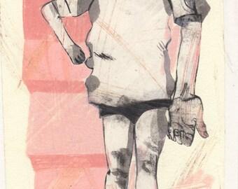 Teenage Girl (original drawing, 2015)