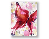Butterfly Joy No. 9 ... Original abstract watercolor aceo art ooak painting by Kathy Morton Stanion  EBSQ