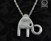 Fork Elephant Pendant - Handmade from Recycled Pewter Forks - Unique Inspired Silverware Jewelry Creations from Doctorgus -