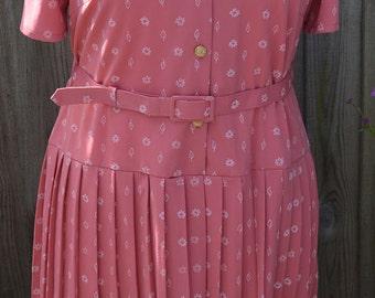 Vintage Size 18 Plus Size 1980s Dress