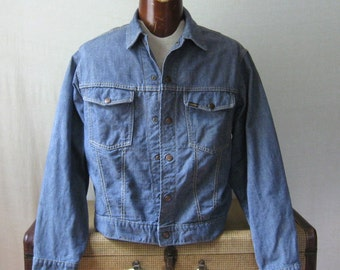 Jean Jacket Denim Selvedge Trucker Jacket 1960s Sears Roebuck Blue Jean Jacket