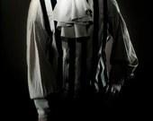Deep Ivory Bastian Shirt and Matching Ascot set by Kambriel - Designer Sample - Brand New & Ready to Ship!