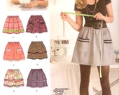 Pull on skirt Learn to Sew teen sewing pattern Simplicity 2286 How to Skills SZ 6 to 18 UNCUT