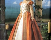Elizabethan Gown SHAKESPEARE IN LOVE Costume Sewing Pattern Sizes 6-12 Uncut