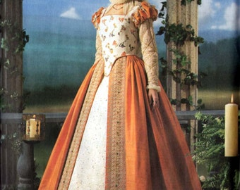 Costume Sewing Pattern Elizabethan Gown SHAKESPEARE IN LOVE Simplicity 1881 Sizes 14-20 Uncut