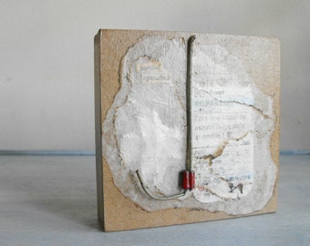 Small Assemblage Art ~ Mixed Media Collage Art Original ~ OOAK Experimental Art by Luluanne