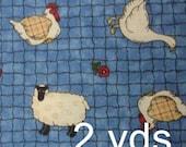 Sheep farm fabric - 2 yards x 43 inches