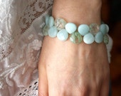 Amazonite Bracelet . Blue Stone Bracelet . Aqua Blue Bracelet . Elegant Jewelry . Statement Bracelet - Antigua Collection
