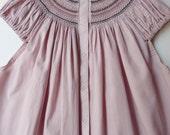 Berenguela Blouse Greyish Pink Color - nO.073- Size S - Short Sleeve - EUR 36 - USA 6 - JAPAN 9-11