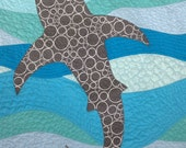 Ocean Life Baby Quilt - Shark in the Deep Blue Sea
